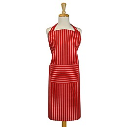 Design Imports Striped Apron in Tango Red