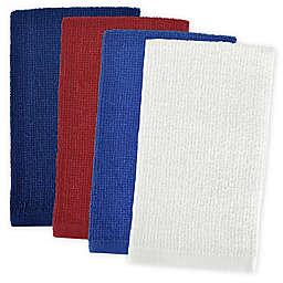Design Imports 4-Pack Patriotic Bar Mop Dish Towels
