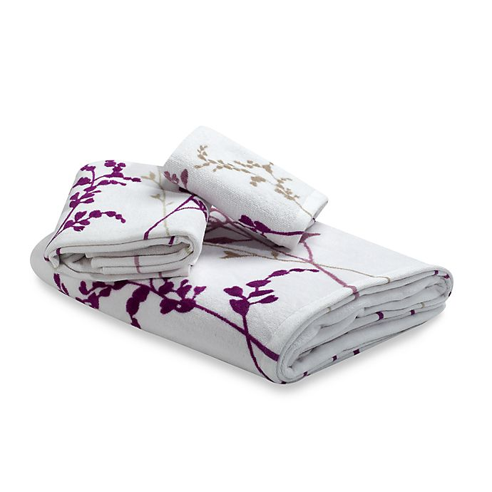Reflections Purple Bath Towels 100