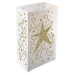 Gold Star Plastic Luminaria Lanterns (Set of 12)