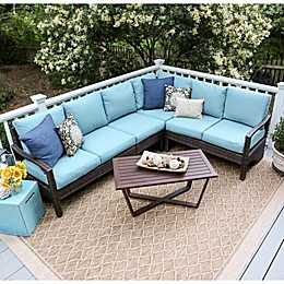 Leisure Made Augusta 5-Piece Outdoor Wicker Sectional Set