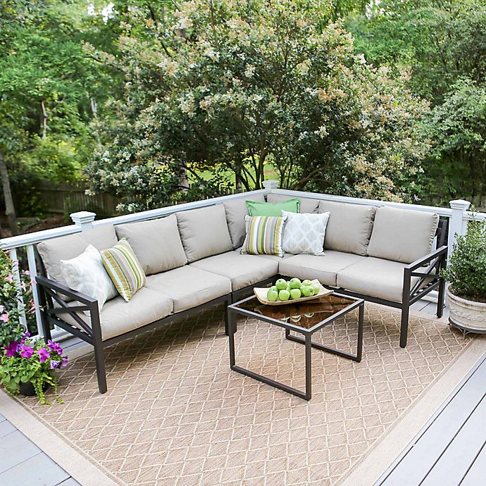 Alternate image 1 for Leisure Made Blakely 5-Piece Sectional Patio Furniture Set in Tan