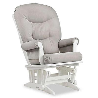 Dutailier® Sleigh Glider in White/Light Grey