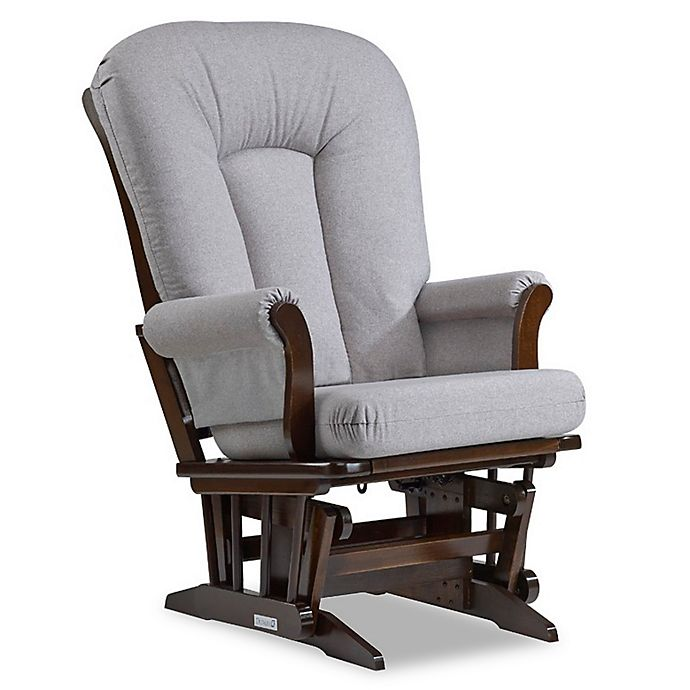 Alternate image 1 for Dutailier® Sleigh Glider in Brown/Pebble Grey