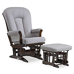 Dutailier® Sleigh Glider and Ottoman in Brown/Dark Grey