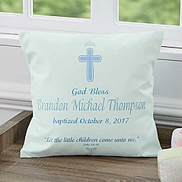 Baptism Day 14-Inch Square Keepsake Pillow