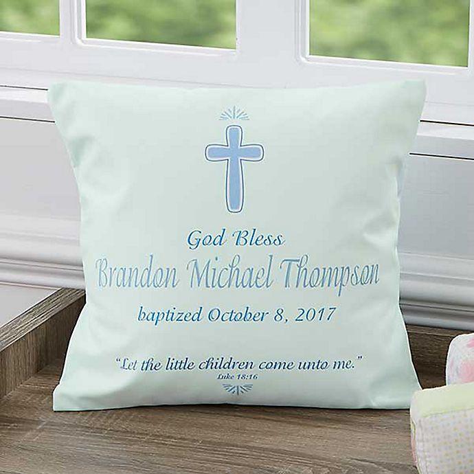 Alternate image 1 for Baptism Day 14-Inch Square Keepsake Pillow