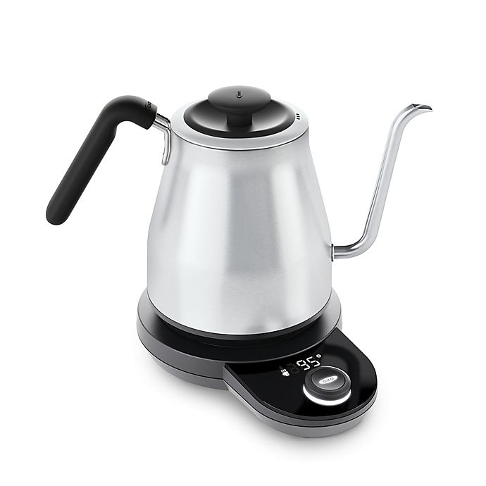Alternate image 1 for OXO Brew Adjustable Temperature Electric Gooseneck Stainless Steel Kettle