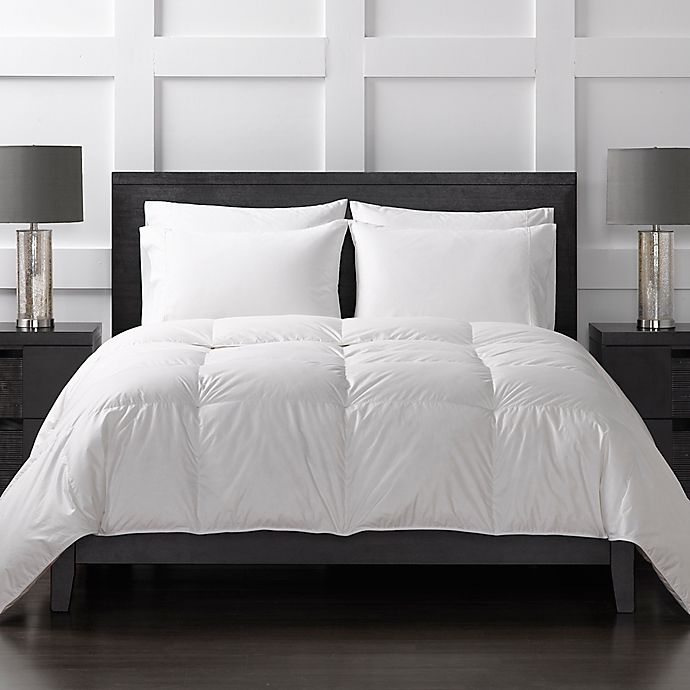 Alternate image 1 for Sharper Image® 370-Thread-Count Extra-Warmth Down Alternative King Comforter in White