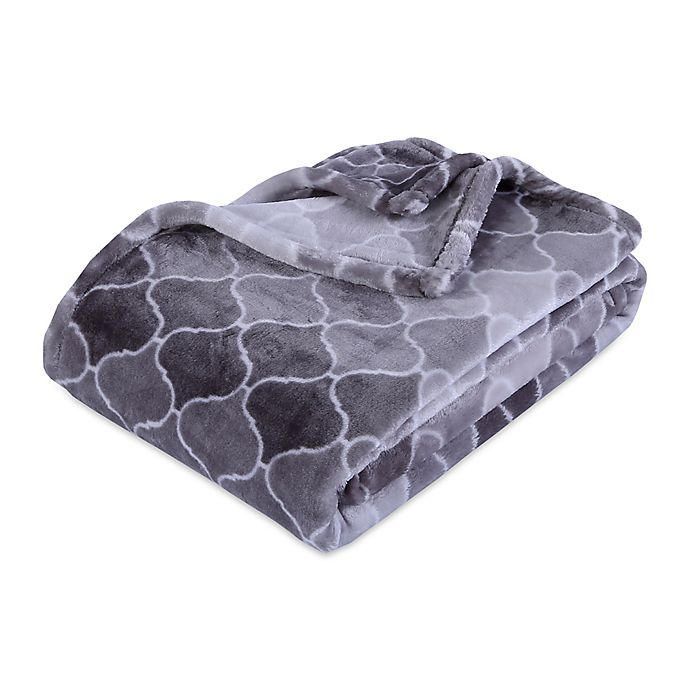 Alternate image 1 for Berkshire Blanket® VelvetLoft® Throw Blanket in Ombre Grey