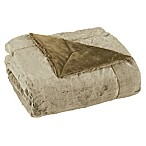 Purley Soft Tipped Faux Fur Throw in Honey