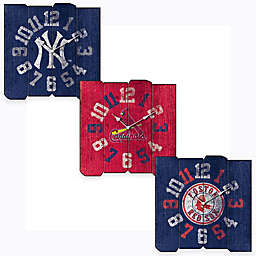 MLB Vintage Square Wall Clock Collection