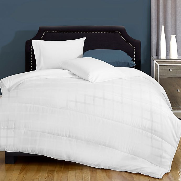 Alternate image 1 for Canada's Best Textured Embossed Microfiber 8 oz. Twin Comforter in White