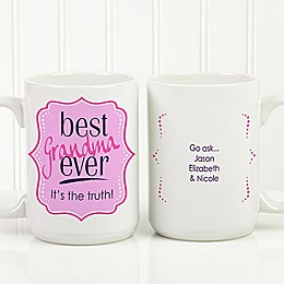 Best Mom Ever 15 oz. Personalized Coffee Mug in White