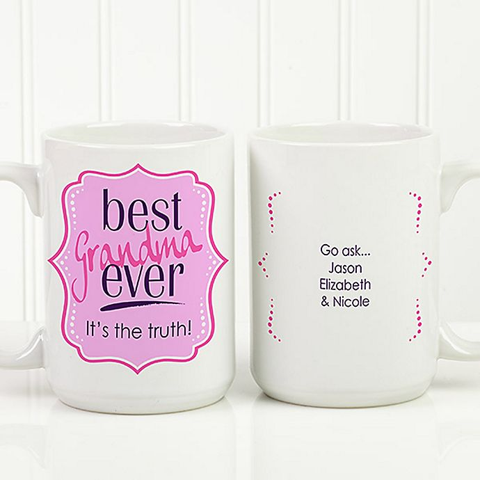 15 Oz Personalized Coffee Mug In White