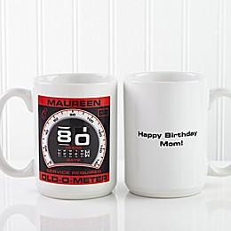 Birthday Oldometer 15 oz. Coffee Mug in White