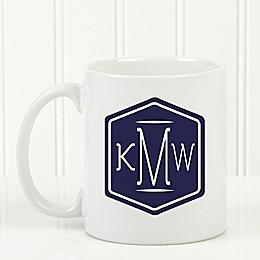 Classic Monogram 11 oz. Coffee Mug in White