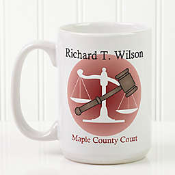 Coffee & Counsel 15 oz. Coffee Mug in White