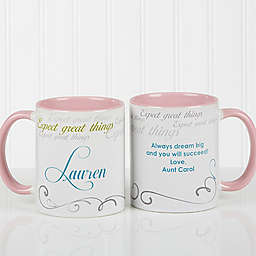 Cup of Inspiration 11 oz. Coffee Mug in Pink