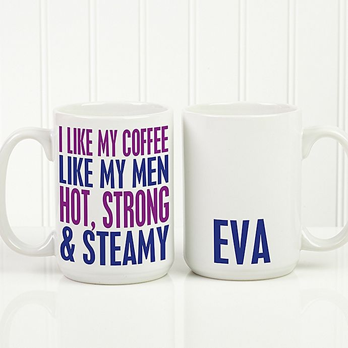 Alternate image 1 for Funny Morning Quote 15 oz. Coffee Mug in White