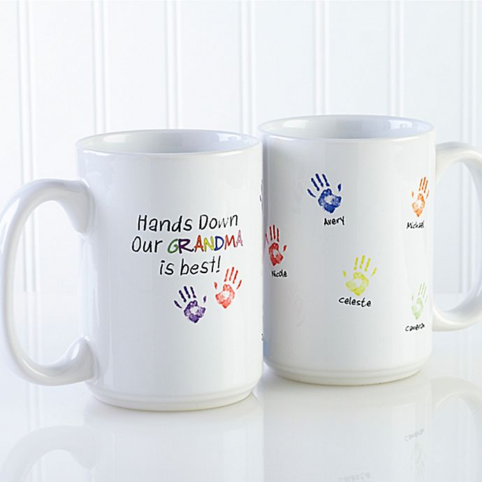 Alternate image 1 for Hands Down 15 oz. Coffee Mug in White