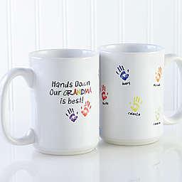 Hands Down 15 oz. Coffee Mug in White