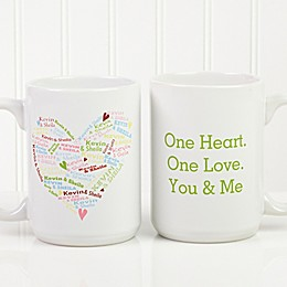 Heart of Love 15 oz. Coffee Mug in White