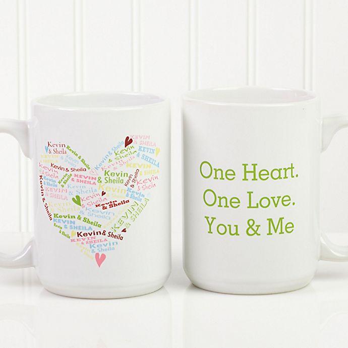 Alternate image 1 for Heart of Love 15 oz. Coffee Mug in White