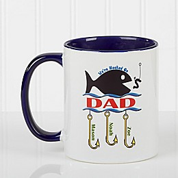 Hooked on You 11 oz. Coffee Mug in Blue