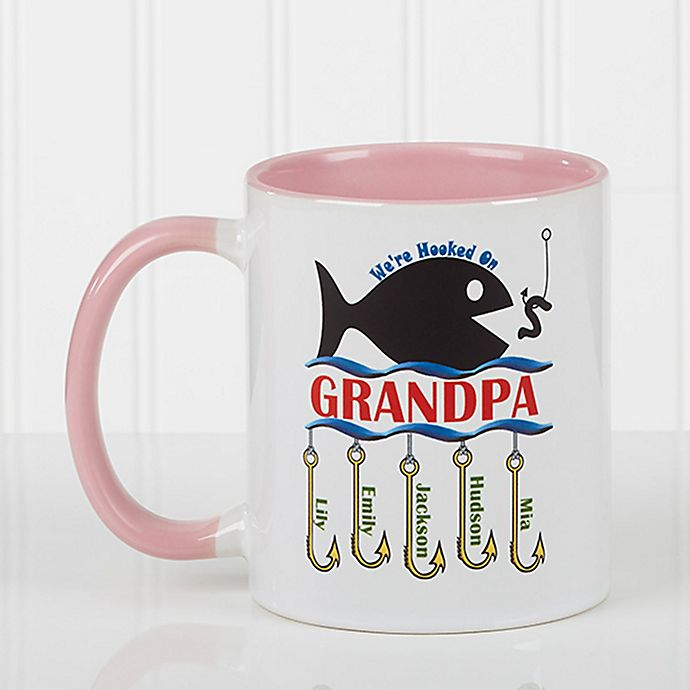 Alternate image 1 for Hooked on You 11 oz. Coffee Mug in Pink