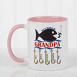 Hooked on You 11 oz. Coffee Mug in Pink