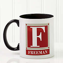 Letter Perfect 11 oz. Coffee Mug in White/Black