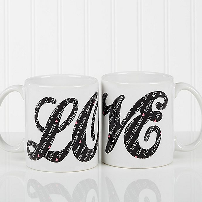 Alternate image 1 for LOVE Sweethearts 11 oz. Coffee Mug in White