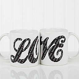 LOVE Sweethearts 11 oz. Coffee Mug in White