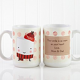 Marshmallow 15 oz. Coffee Mug in White