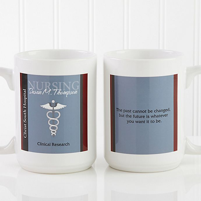 Alternate image 1 for Medical Professions 15 oz. Coffee Mug in White