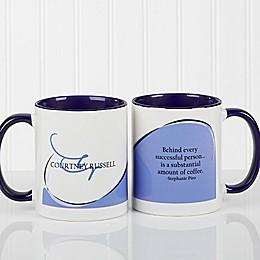 My Monogram Quote 11 oz. Coffee Mug in Blue