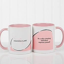 My Monogram Quote 11 oz. Coffee Mug in Pink