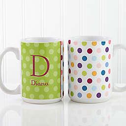 Polka Dot 15 oz. Coffee Mug in White