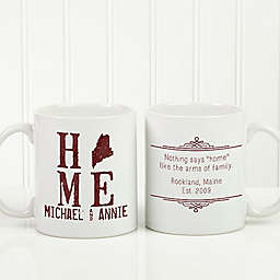 State of Love 11 oz. Coffee Mug in White