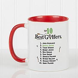 Top 10 Golfers 11 oz. Coffee Mug in Red/White