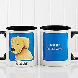 Top Dog Breeds 11 oz. Coffee Mug in Black/White