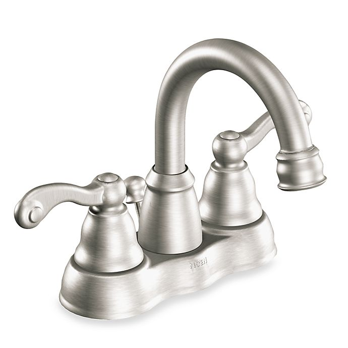 Moen Traditional Bathroom Faucet: Moen® Traditional® Two-Handle High Arc Centerset Faucet