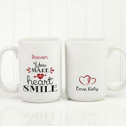 You Make My Heart Smile 15 oz. Coffee Mug in White