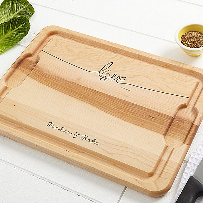 Alternate image 1 for Lovebirds 12-Inch x 17-Inch Maple Cutting Board