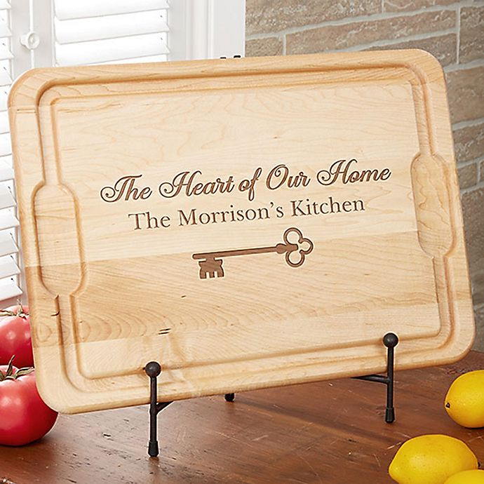 Alternate image 1 for Key To Our Home 12-Inch x 17-Inch Maple Cutting Board