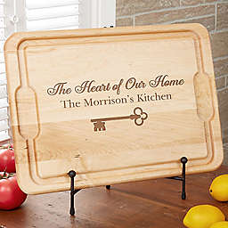 Key To Our Home 12-Inch x 17-Inch Maple Cutting Board
