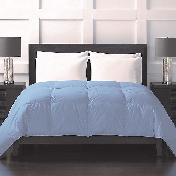 Alternate image 1 for Sharper Image® 370-Thread-Count Lightweight Down Alternative Full/Queen Comforter in Blue