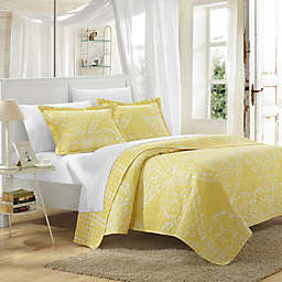 Chic Home Revenna Reversible King Quilt Set in Yellow