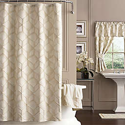 J. Queen New York 72-Inch x 72-Inch Horizons Shower Curtain in Ivory